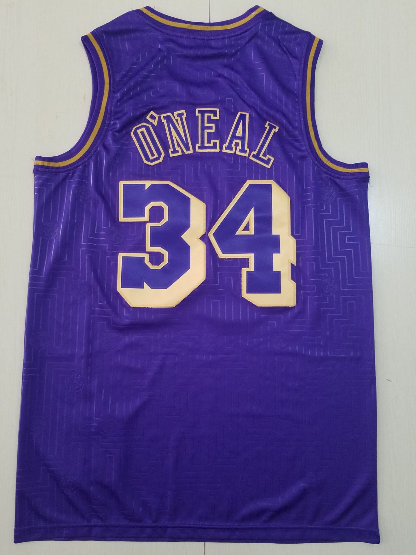 2020 Men Los Angeles Lakers 34 Oneal blue NBA Jerseys