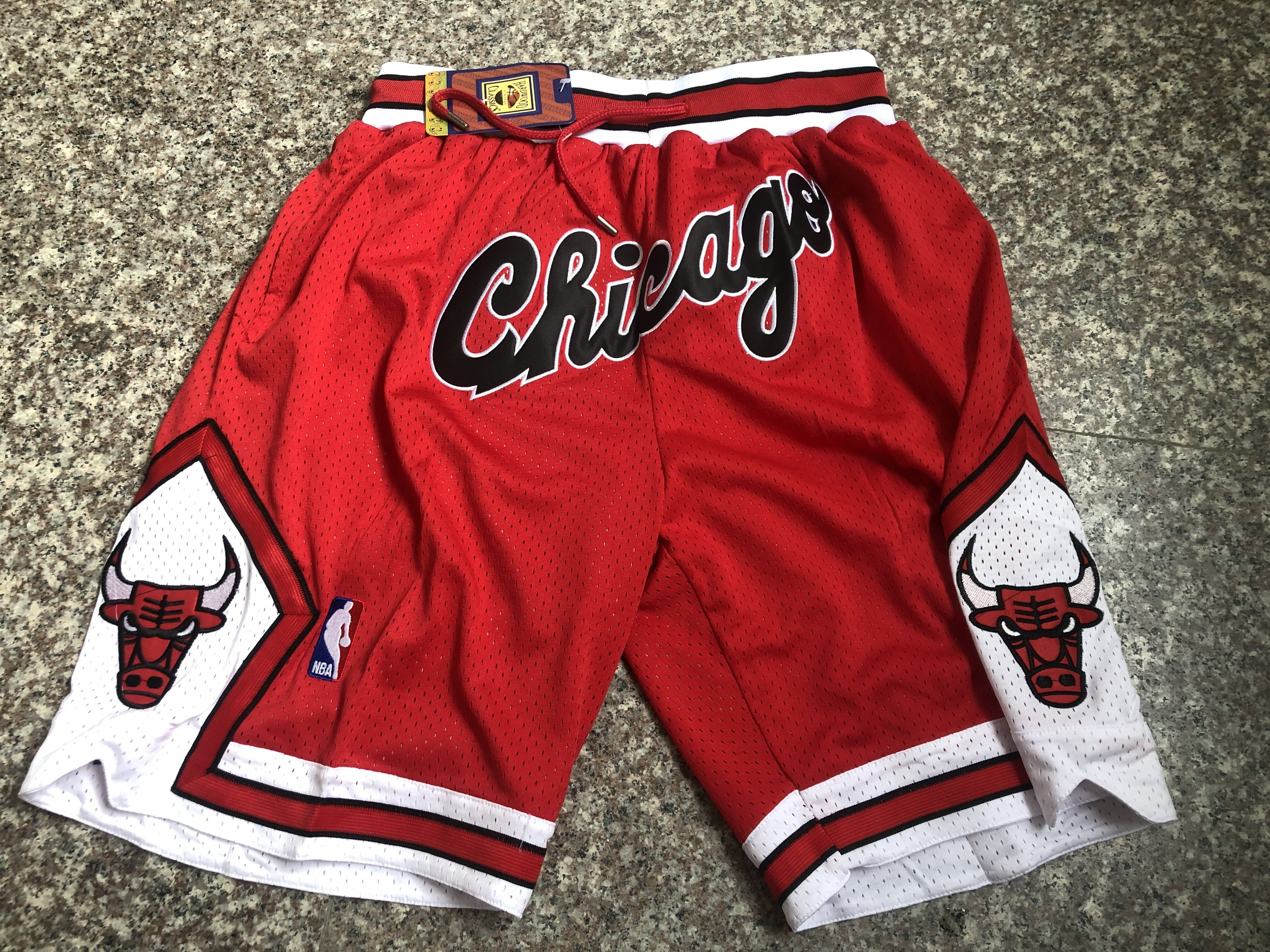 2020 Men NBA Chicago Bulls red shorts style 5