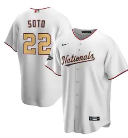 2020 Men Washington Nationals 22 Juan Soto Nike White Jersey