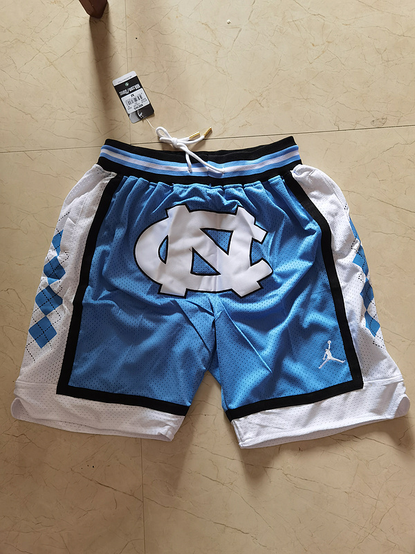 2020 NCAA North Carolina Tar Heels blue shorts