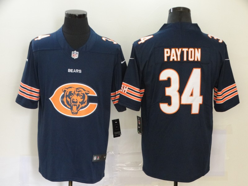 2020 Nike NFL Men Chicago Bears 34 Payton blue Limited jerseys