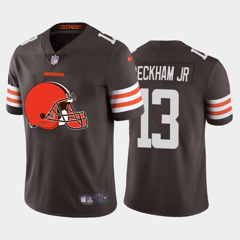 2020 Nike NFL Men Cleveland Browns 13 Beckham jr brown Limited jerseys