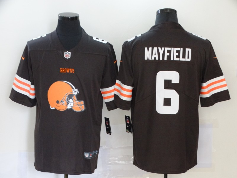 2020 Nike NFL Men Cleveland Browns 6 Mayfield brown Limited jerseys