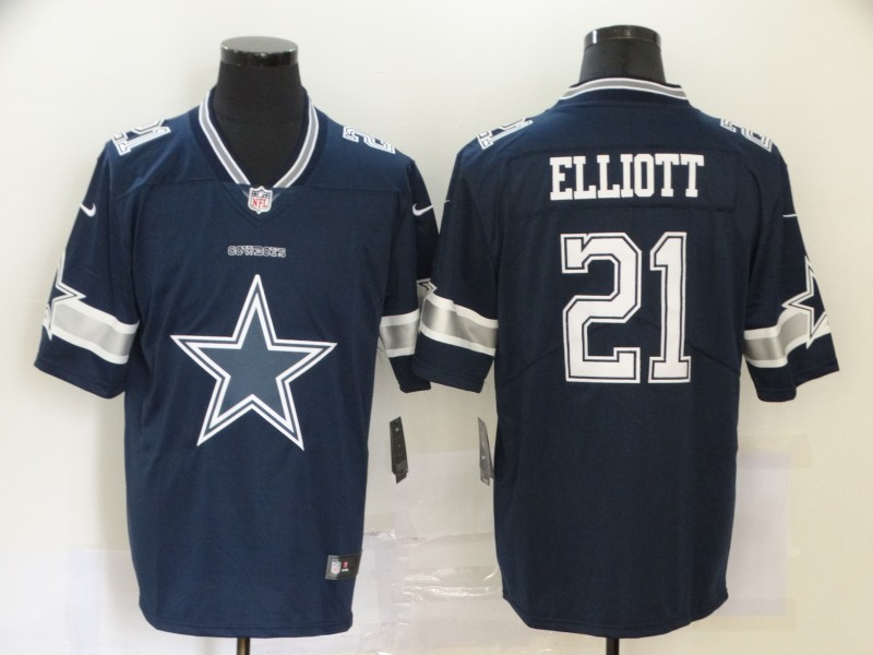 2020 Nike NFL Men Dallas cowboys 21 Elliott blue Limited jerseys