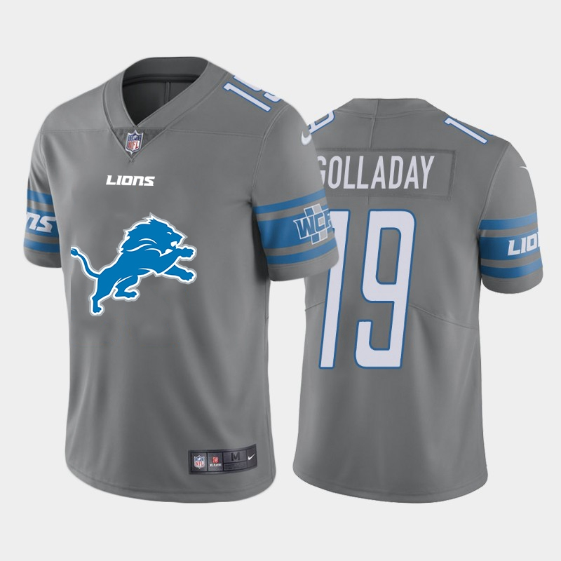 2020 Nike NFL Men Detroit Lions 19 Golladay grey Limited jerseys