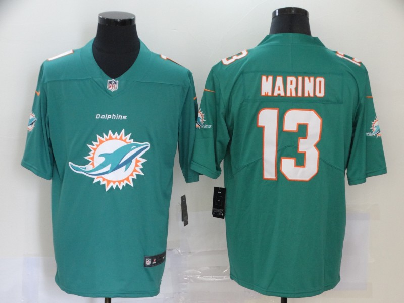2020 Nike NFL Men Miami Dolphins 13 Marino Green Limited jerseys