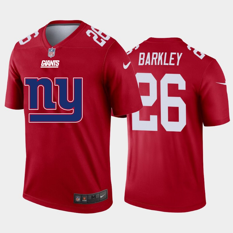 2020 Nike NFL Men New York Giants 26 Barkley red Limited jerseys