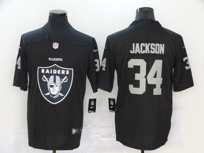 2020 Nike NFL Men Oakland Raiders 34 Jackson black Limited jerseys