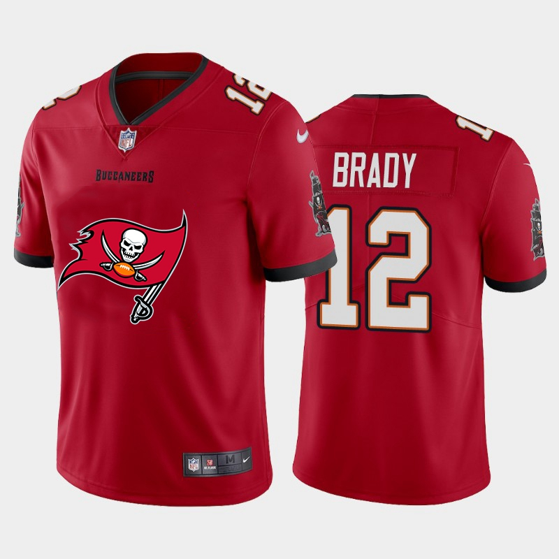 2020 Nike NFL Men Tampa Bay Buccaneers 12 Brady red Limited jerseys