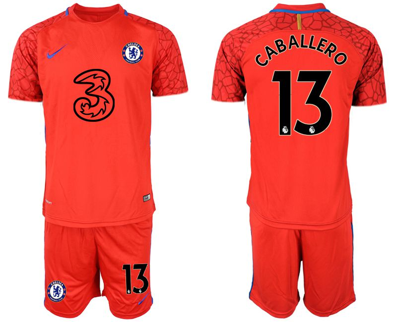 Men 2020-2021 club Chelsea red goalkeeper 13 Soccer Jerseys1