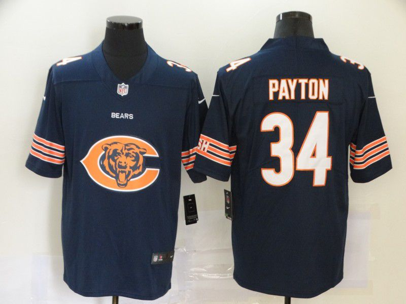 Men Chicago Bears 34 Payton Blue Nike Team logo fashion NFL Jersey