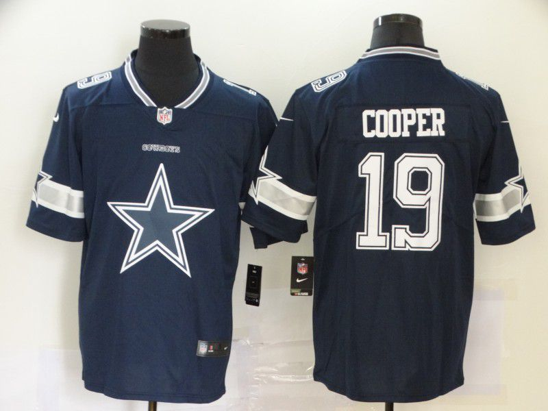 Men Dallas cowboys 19 Cooper Blue Nike Team logo fashion NFL Jersey