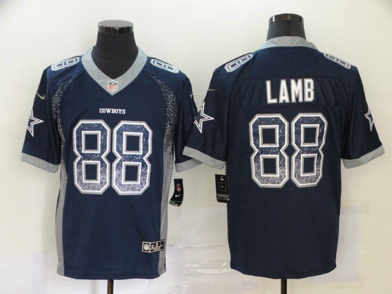 Men Dallas cowboys 88 Lamb Blue Nike Drift Fashion Color Rush Limited NFL Jersey