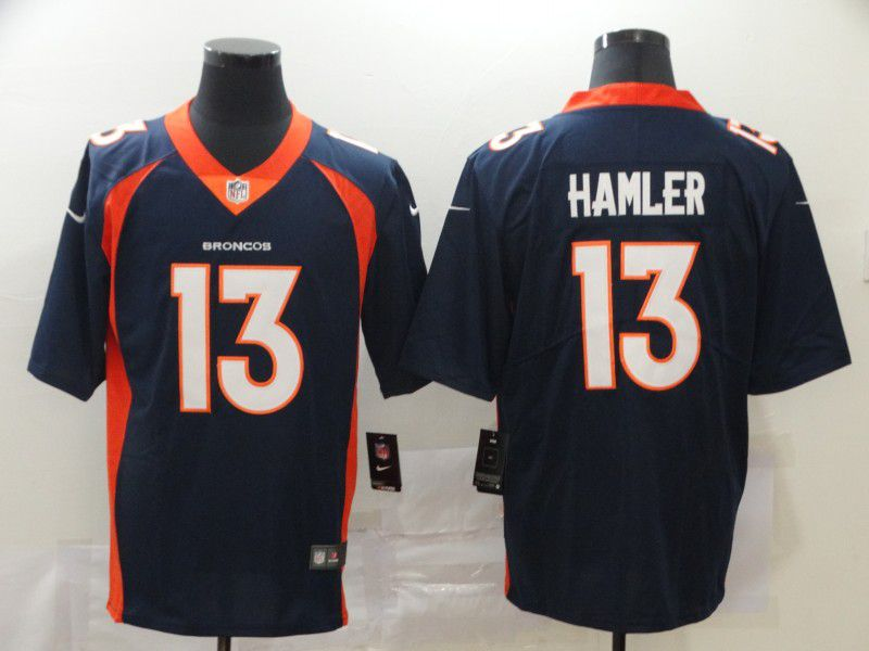 Men Denver Broncos 13 Hamler Blue Nike Vapor Untouchable Limited NFL Jersey