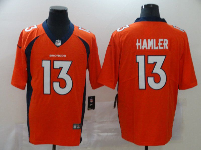 Men Denver Broncos 13 Hamler Orange Nike Vapor Untouchable Limited NFL Jersey1