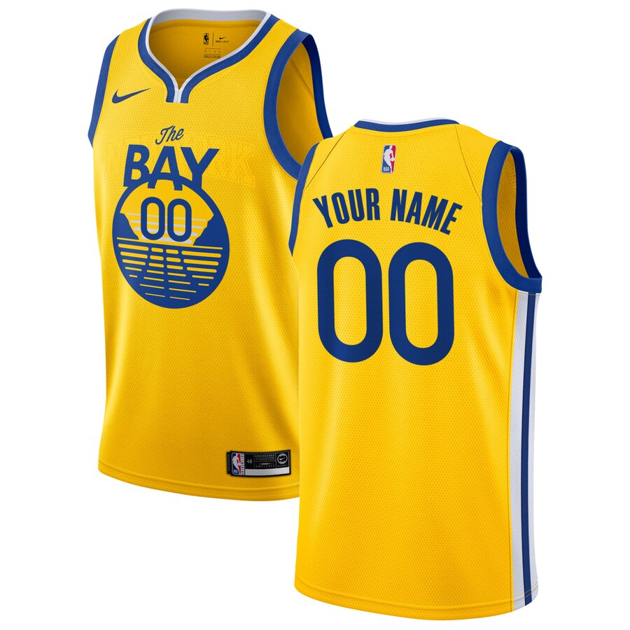 Men Golden State Warriors 00 customized Game yellow new Nike NBA Jerseys