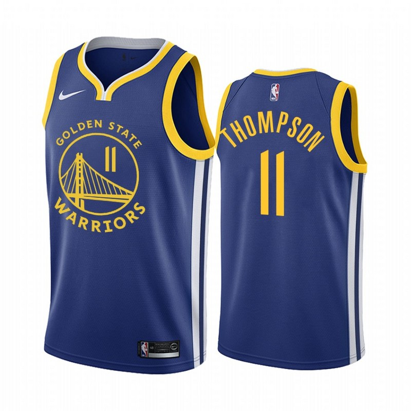 Men Golden State Warriors 11 Thompson blue Game new Nike NBA Jerseys