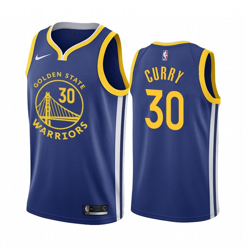 Men Golden State Warriors 30 Curry Game blue new Nike NBA Jerseys