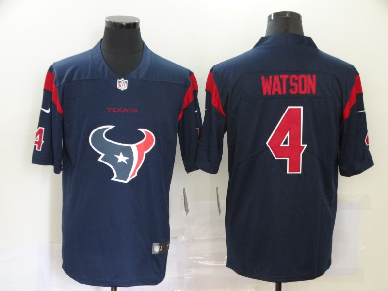 Men Houston Texans 4 Watson Blue logo Nike Vapor Untouchable Limited NFL Jersey
