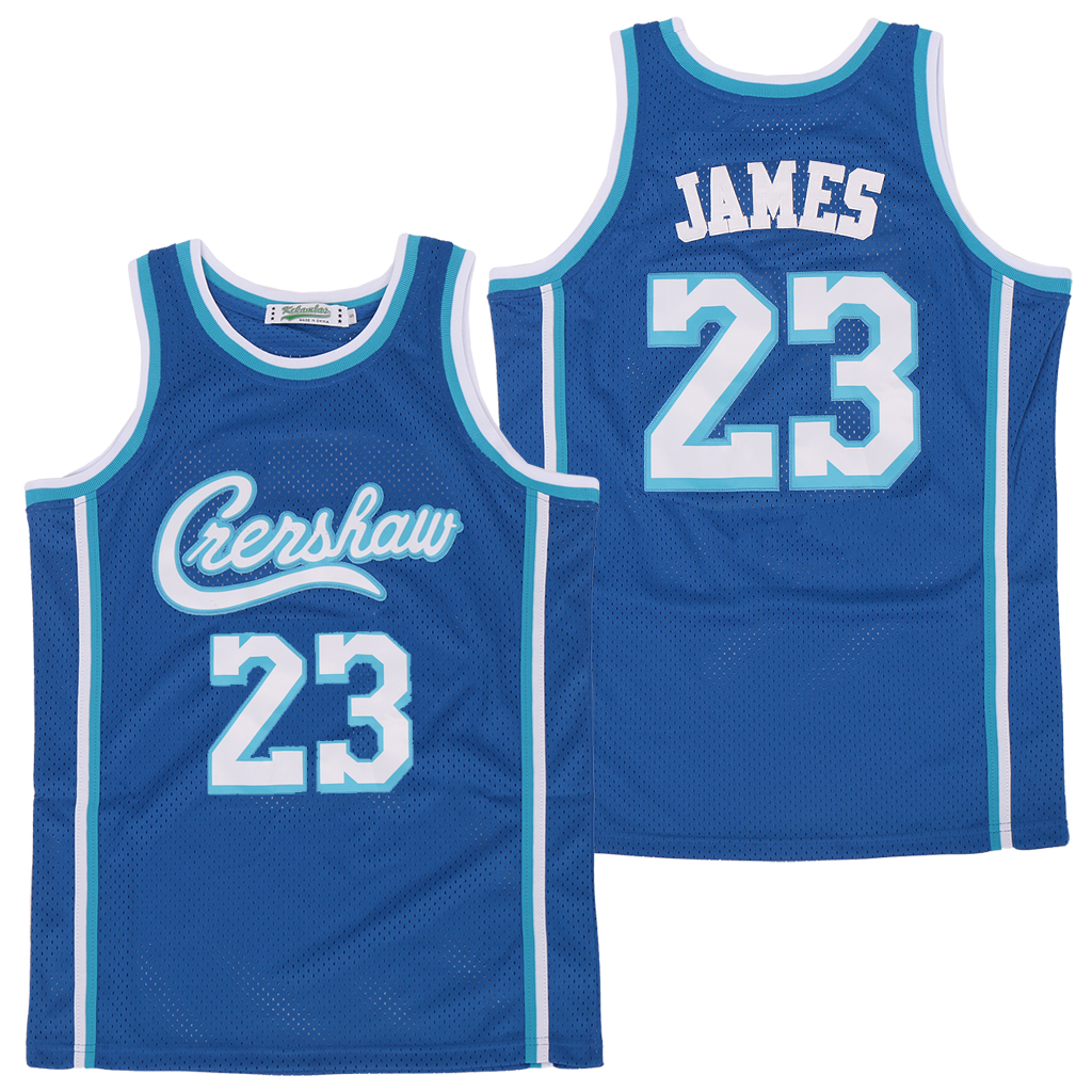 Men Los Angeles Lakers Crershaw 23 James blue Game NBA Jerseys