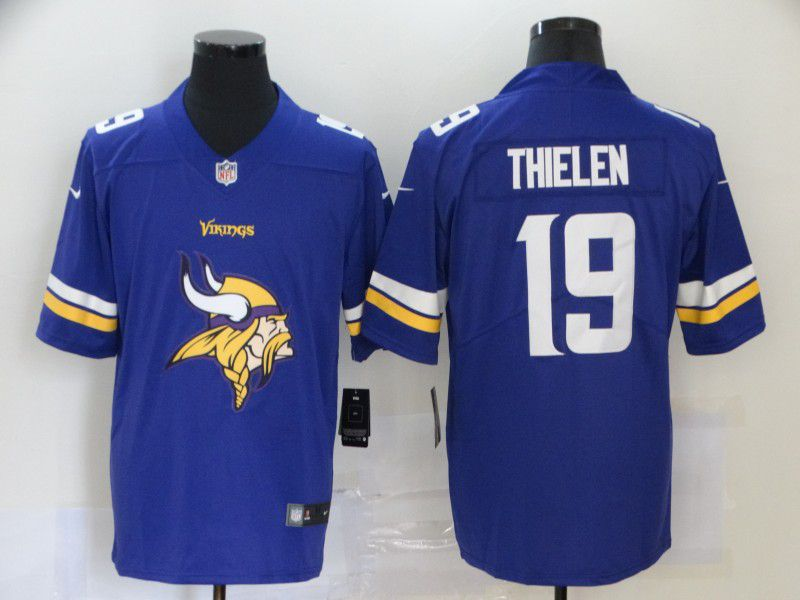 Men Minnesota Vikings 19 Thielen Purple Nike Team logo fashion NFL Jersey