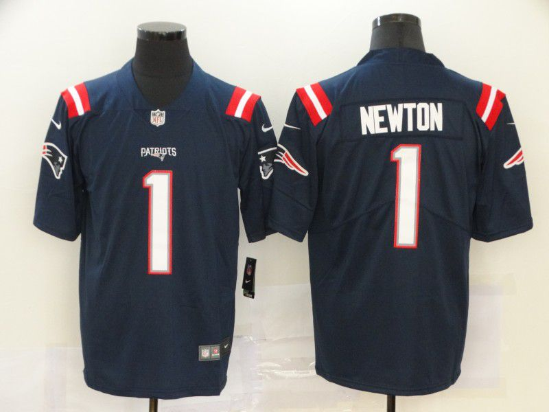 Men New England Patriots 1 Newton Blue Nike Vapor Untouchable Limited NFL Jersey