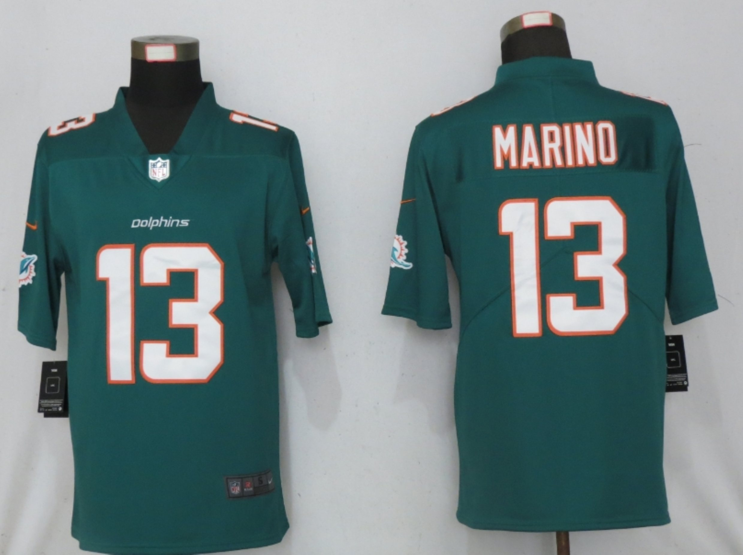 Men New Nike Miami Dolphins 13 Marino Green 2020 Vapor Limited Jersey
