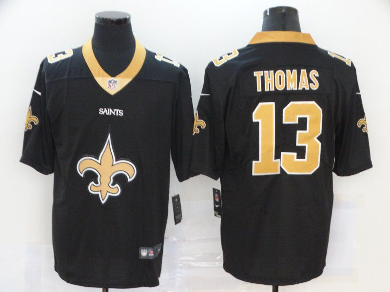 Men New Orleans Saints 13 Thomas Black Nike Team logo fashion NFL Jersey