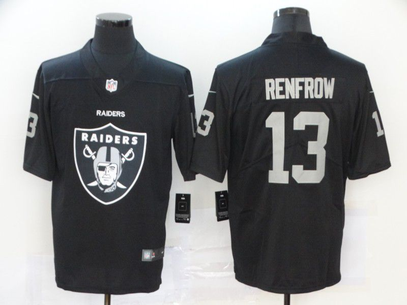 Men Oakland Raiders 13 Renfrow Black Nike Team logo fashion NFL Jersey