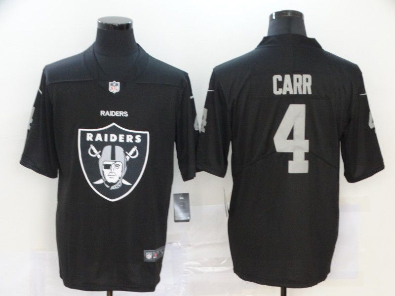 Men Oakland Raiders 4 Carr Black Nike Team logo fashion NFL Jersey
