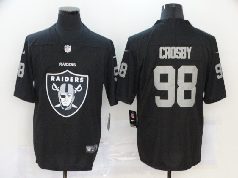 Men Oakland Raiders 99 Crosby Black Nike Team logo fashion NFL Jersey