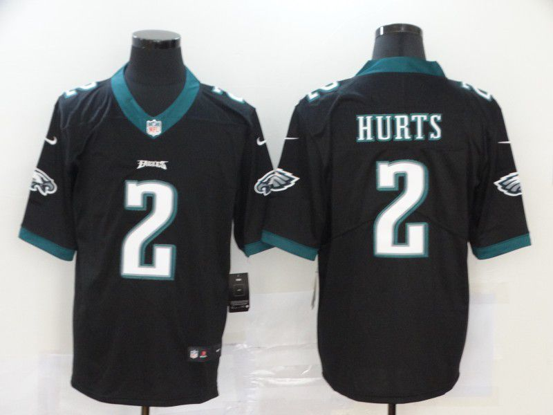 Men Philadelphia Eagles 2 Hurts Black Nike Vapor Untouchable Limited NFL Jersey