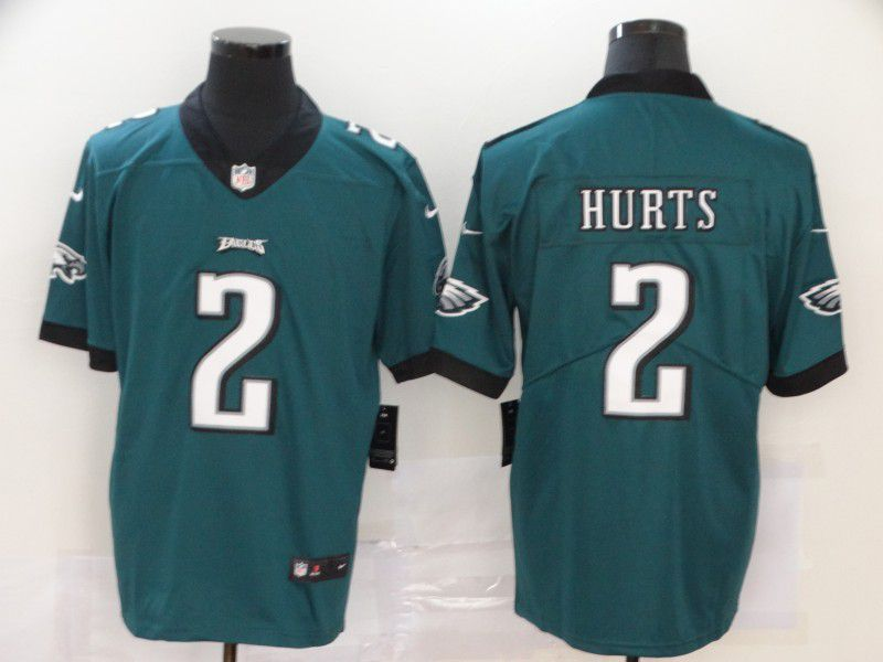 Men Philadelphia Eagles 2 Hurts Green Nike Vapor Untouchable Limited NFL Jersey