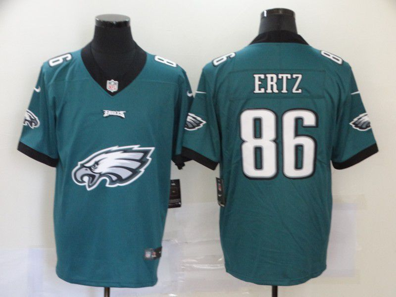 Men Philadelphia Eagles 86 Ertz Green Nike Team logo fashion NFL Jersey