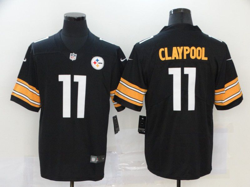 Men Pittsburgh Steelers 11 Claypool Black Nike Vapor Untouchable Limited NFL Jersey