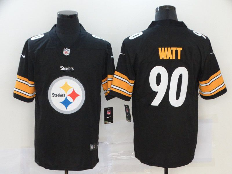 Men Pittsburgh Steelers 90 Watt Black Nike Team logo fashion NFL Jersey