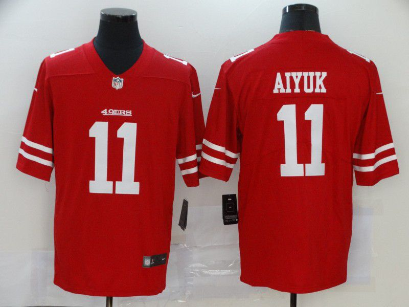 Men San Francisco 49ers 11 Aiyuk Red Nike Vapor Untouchable Limited NFL Jersey