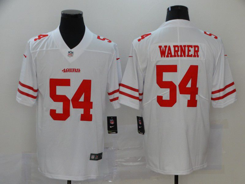 Men San Francisco 49ers 54 Warner White Nike Vapor Untouchable Limited NFL Jersey