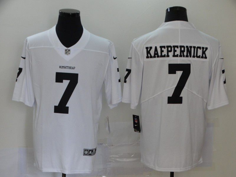 Men San Francisco 49ers 7 Kaepernick White Nike Vapor Untouchable Limited NFL Jersey