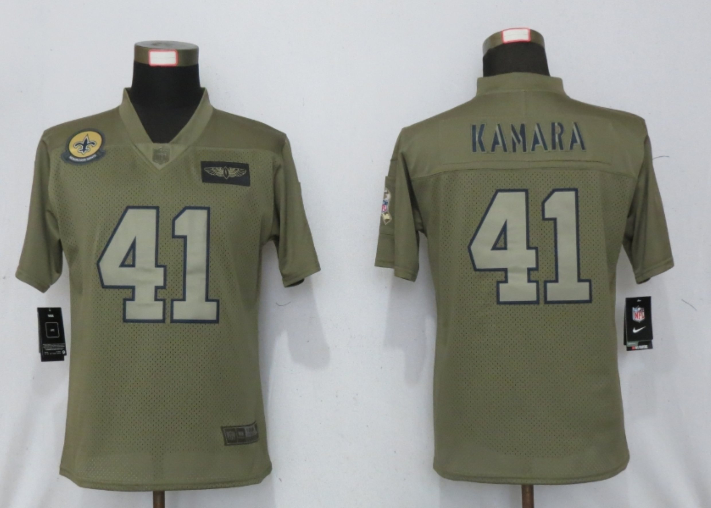 Women New Nike New Orleans Saints 41 Kamara Nike Camo 2019 Salute to Service limited jersey