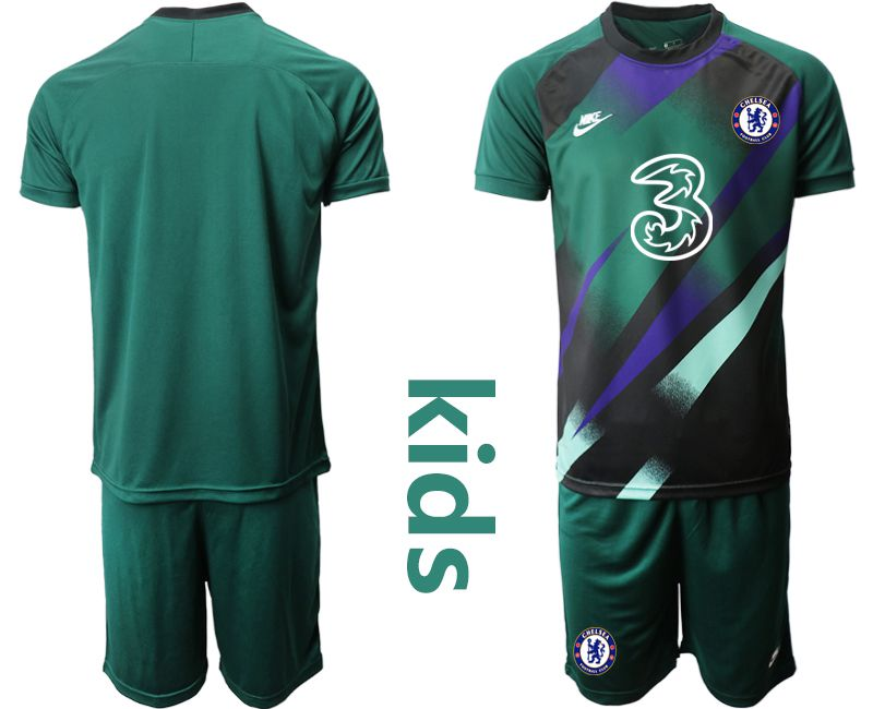 Youth 2020-2021 club Chelsea Dark green goalkeeper Soccer Jerseys