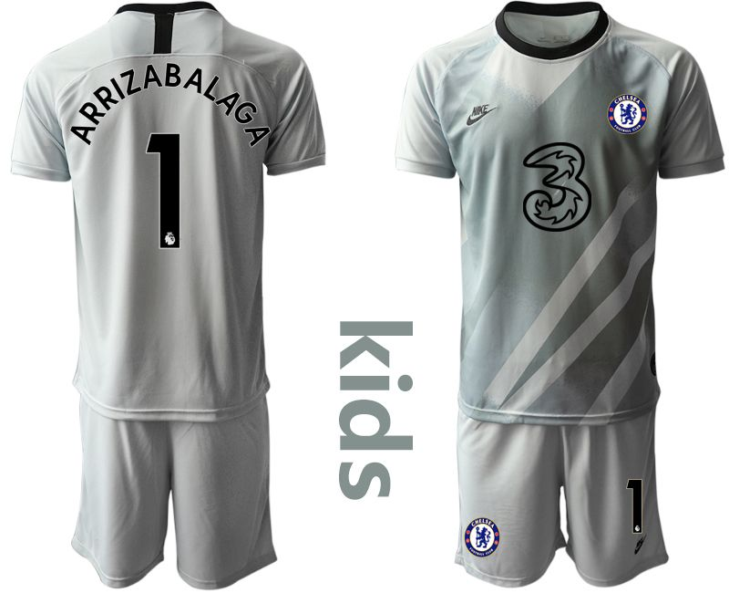 Youth 2020-2021 club Chelsea gray goalkeeper 1 Soccer Jerseys