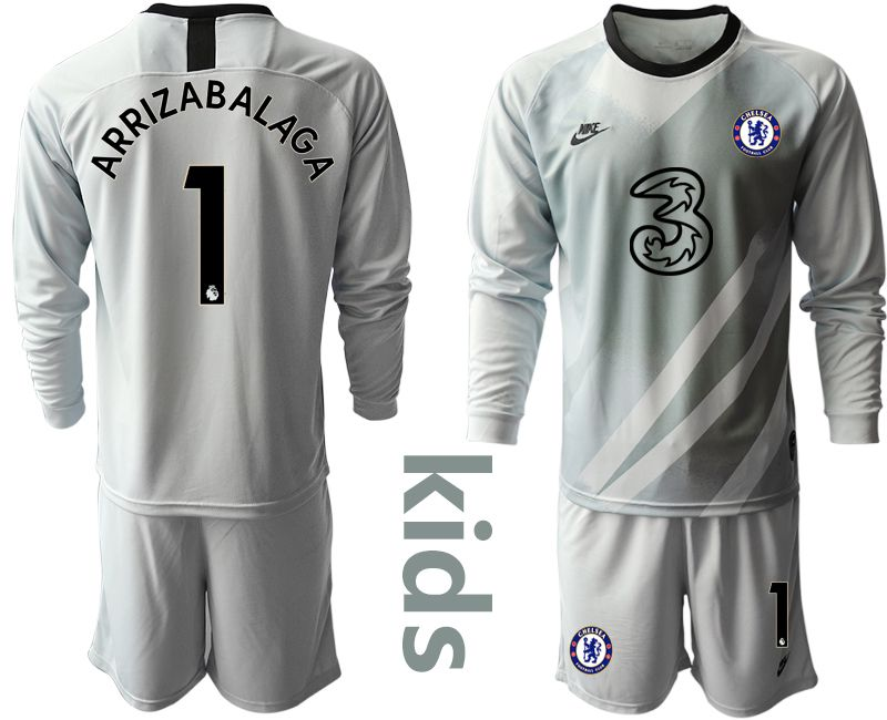 Youth 2020-2021 club Chelsea gray long sleeve goalkeeper 1 Soccer Jerseys