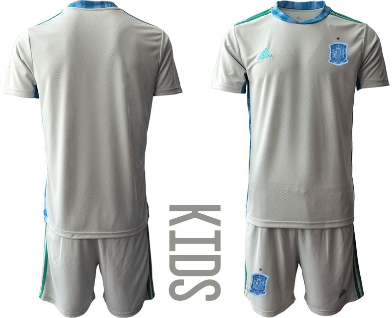Youth 2021 World Cup National Spain gray goalkeeper Soccer Jerseys
