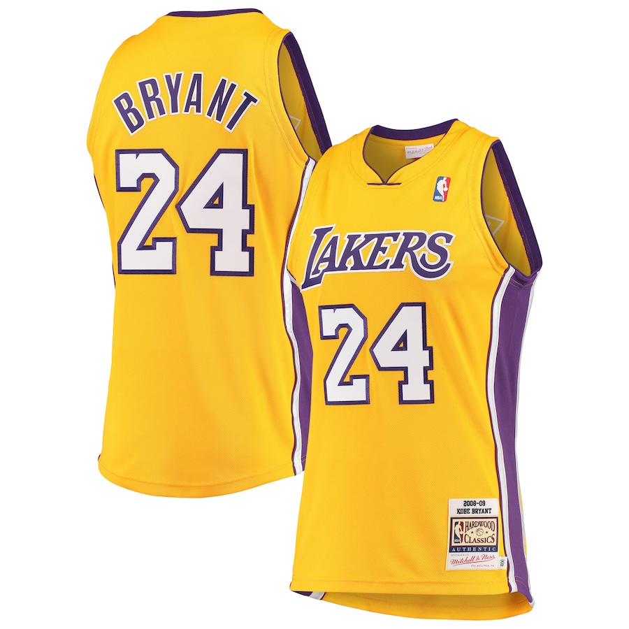 Wholesale Custom Men Los Angeles Lakers 24 Bryant Yellow Nike NBA Jerseys