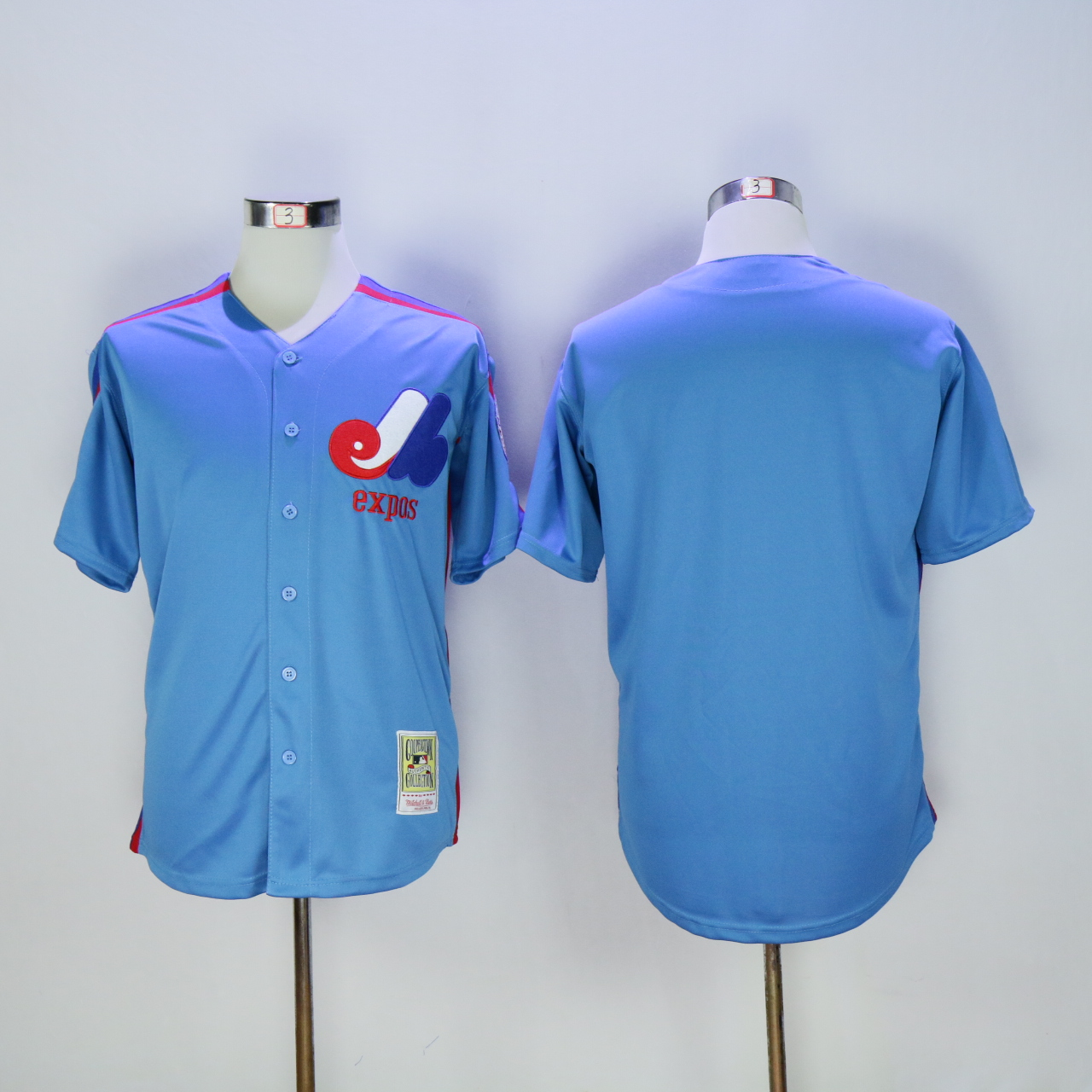 Wholesale Custom Men Montreal Expos Blank Blue MLB Jerseys
