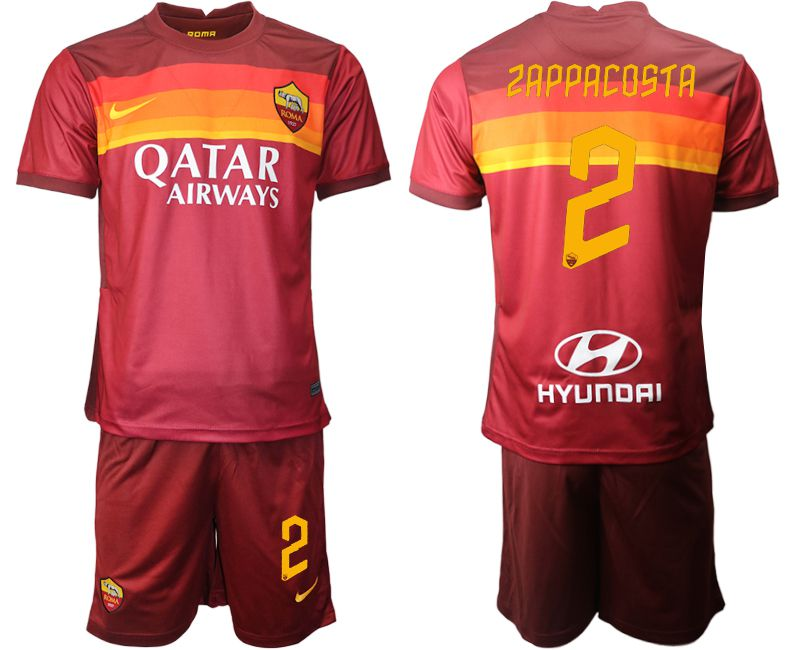 Wholesale Men 2020-2021 club AS Roma home 2 red Soccer Jerseys