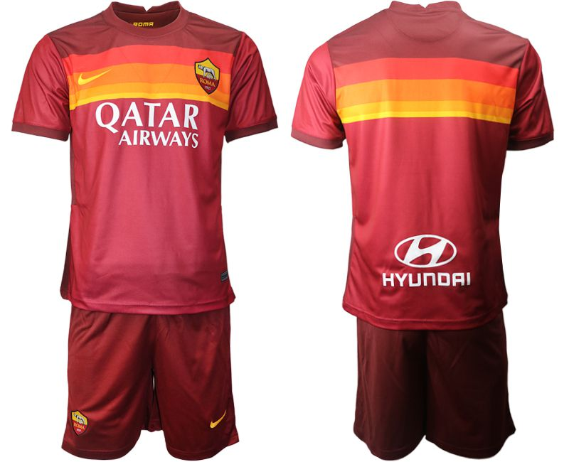Wholesale Men 2020-2021 club AS Roma home red Soccer Jerseys