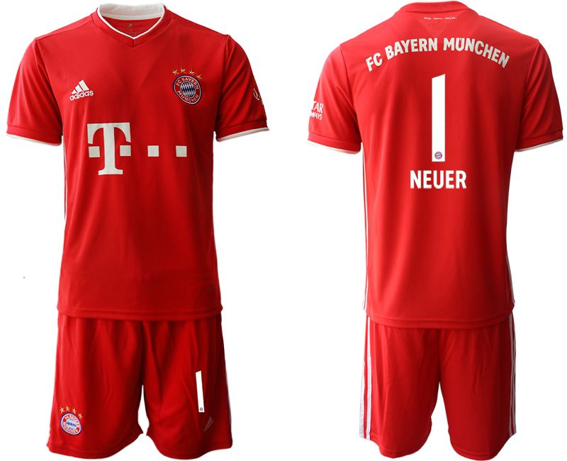 Wholesale Men 2020-2021 club Bayern Munich home 1 red Soccer Jerseys