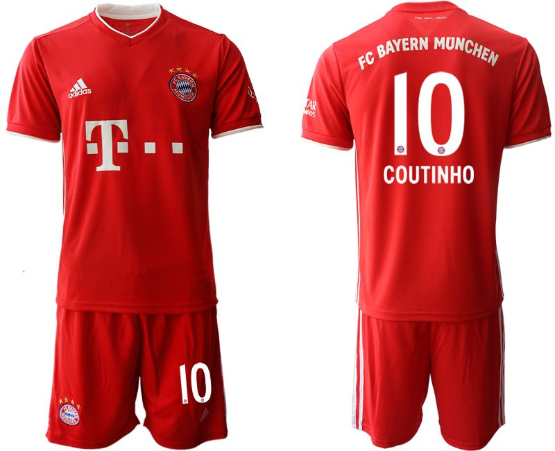Wholesale Men 2020-2021 club Bayern Munich home 10 red Soccer Jerseys